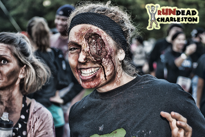 Zombie Makeup at rUNdead
